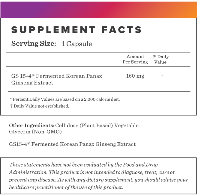 Fermented Ginseng Supplement-FACTS