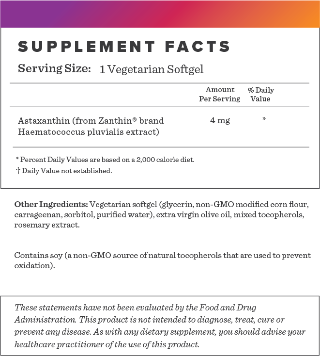 Astaxanthin Supplement-FACTS