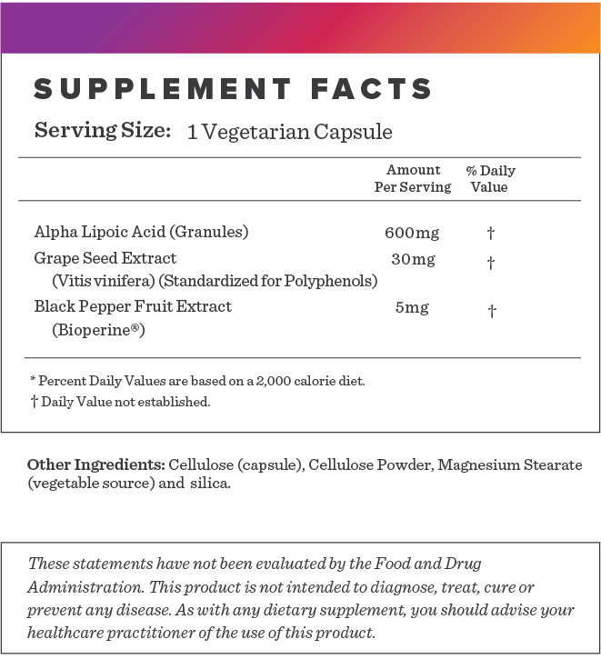 Alpha Lipoic Acid Supplement-FACTS