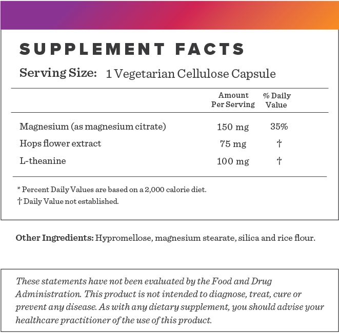 Herbal Rest Supplement-FACTS