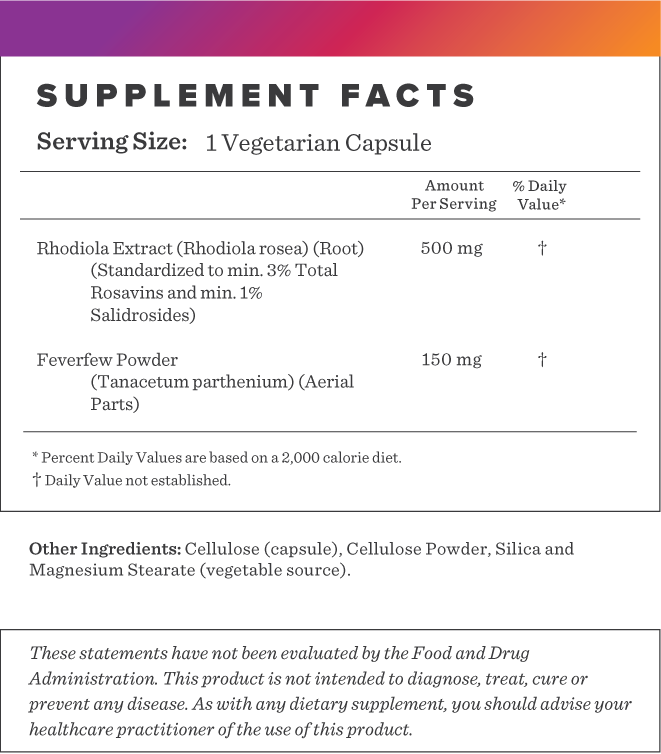 Rhodiola Supplement-FACTS