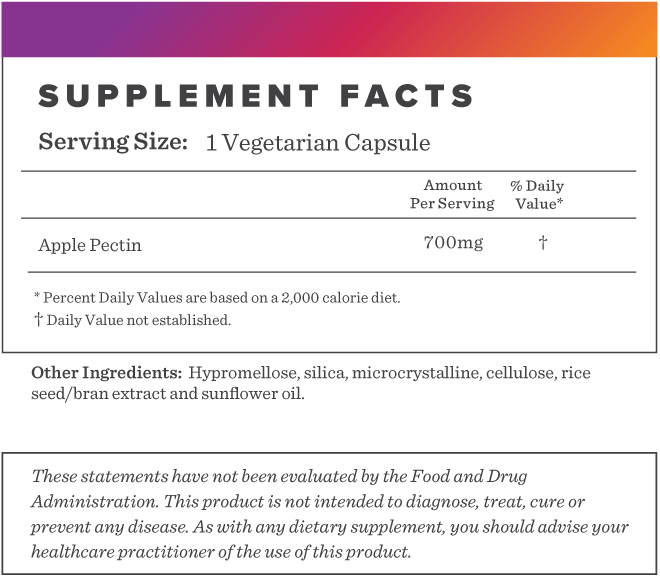 Apple Pectin Supplement-FACTS