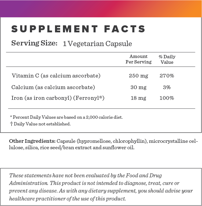 Iron with Vit C Supplement-FACTS