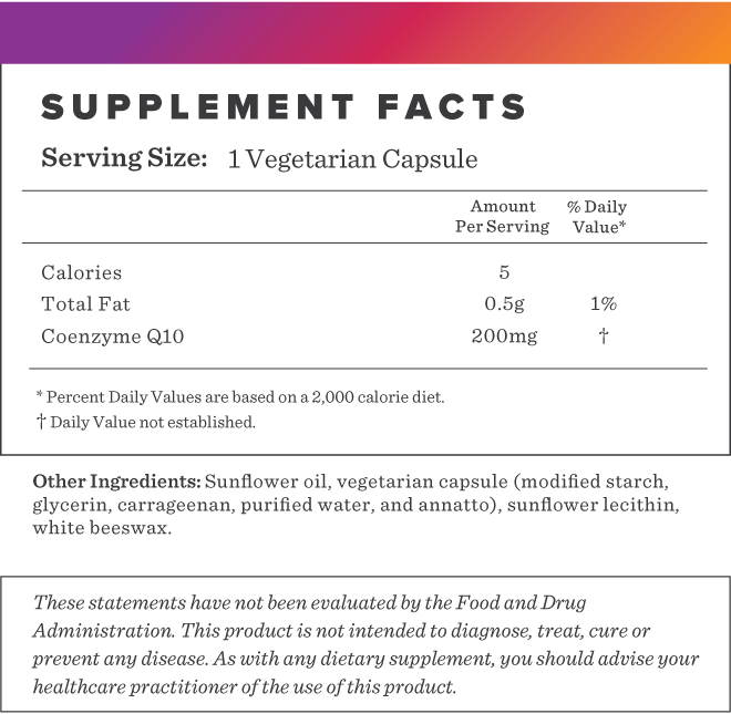 CoQ10 200mg Supplement-FACTS